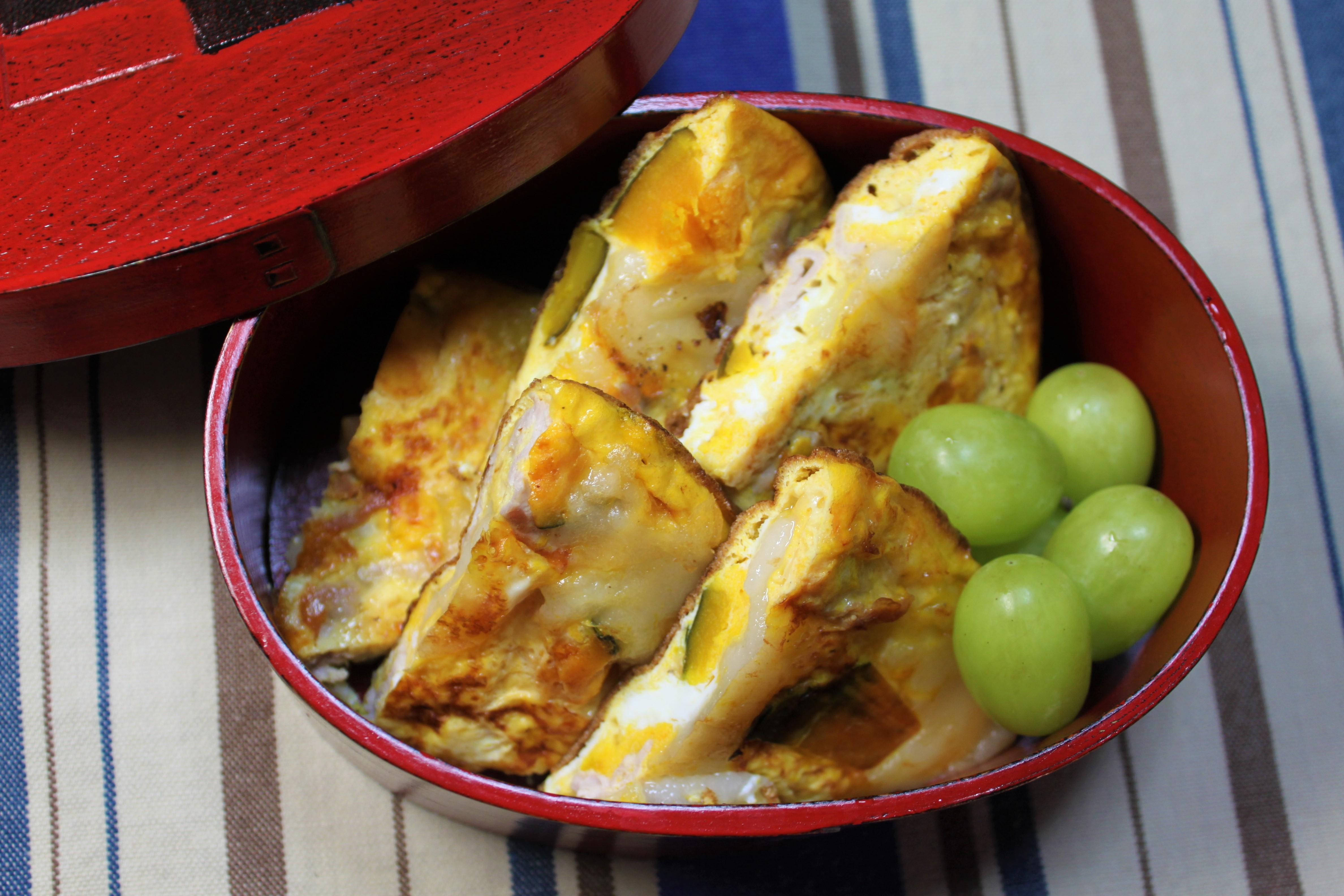 「お餅の入った卵焼き」第1回アスリートフードマイスターレシピコンテスト(テーマ:補食)最優秀賞