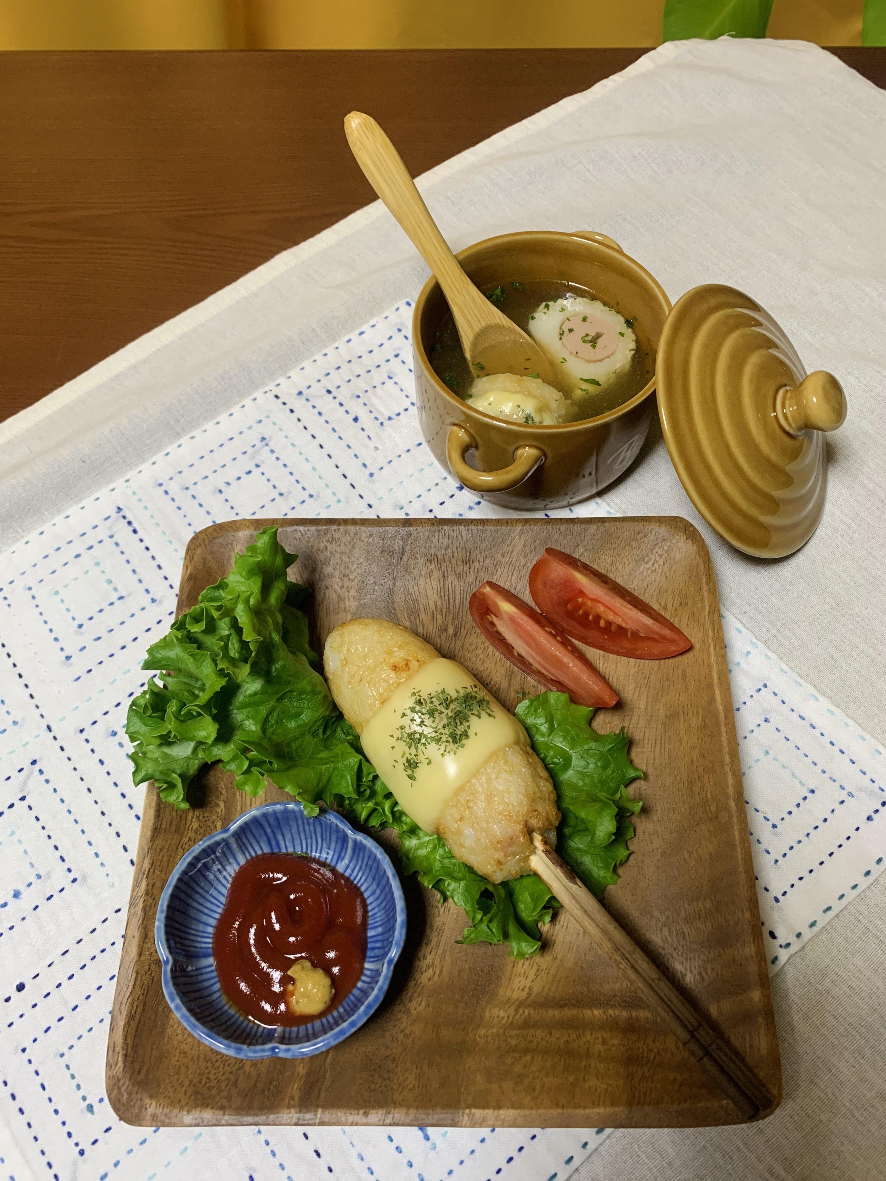 「きりたんぽドッグ」第1回 アスリートフードレシピコンテスト「テーマ補食」 入賞作品